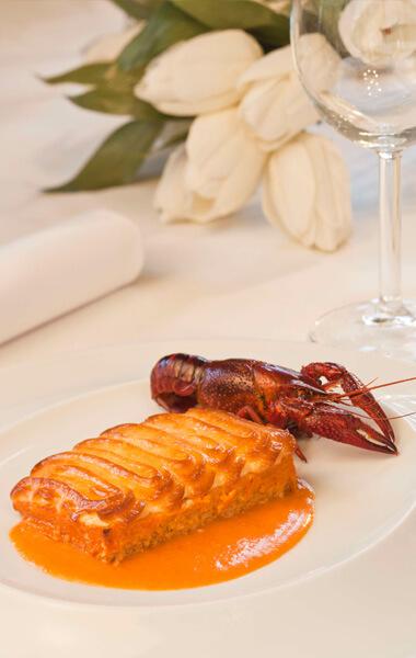 Receta de soufflé de colas de cangrejo