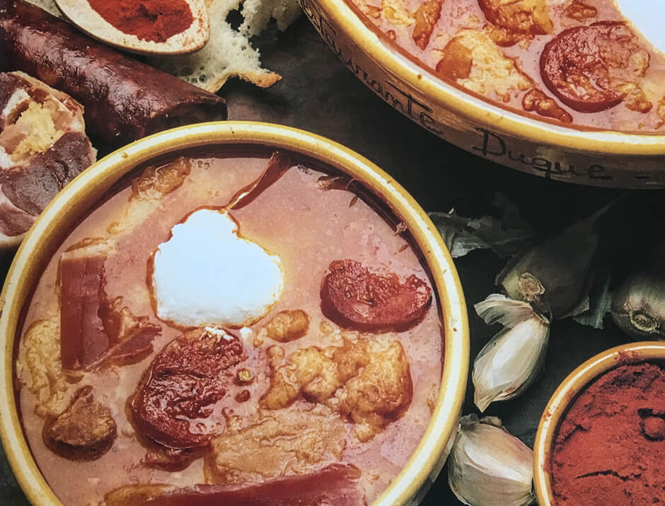 Sopas de ajo o sopa castellana